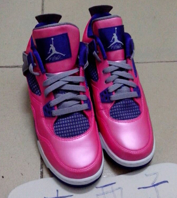Image Update Pink Purple Air Jordan IV GS