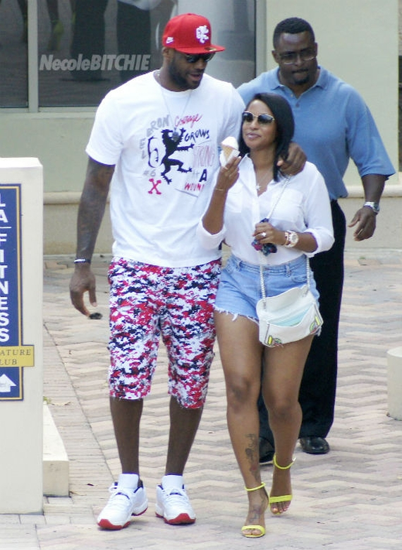 LeBron James in Air Jordan XI Low