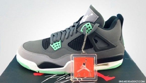 New Images Air Jordan IV 4 Green Glow