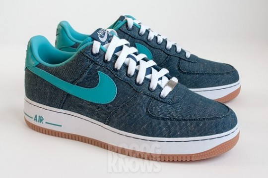 huge discount 75542 14d16 Nike Air Force 1 Low Canvas 'Squadron Blue/Sport Turq-White ...
