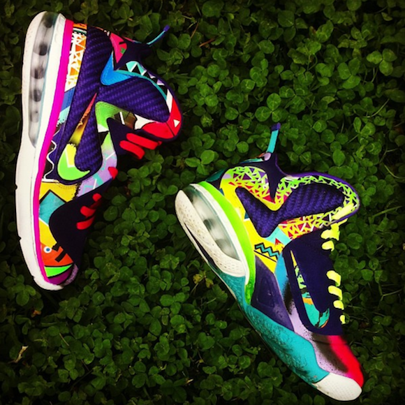 nike lebron 9 what the 90s by district customs