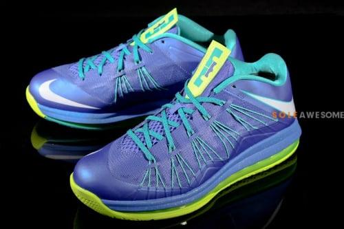 Nike LeBron X (10) Low  Violet Force Pure Platinum-Volt-Sport Turq ... 331329da5c