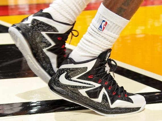 Nike LeBron X Elite White Black Speckle PE