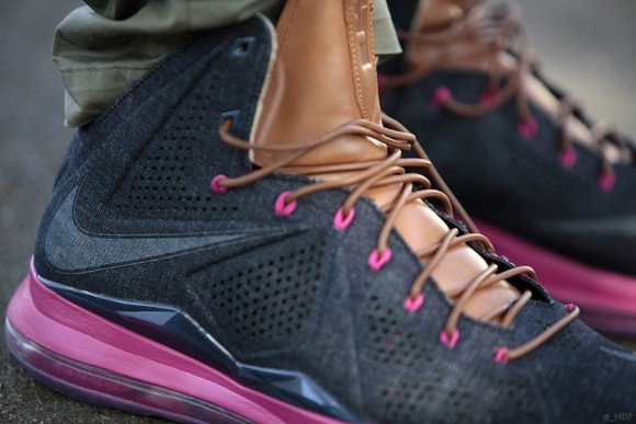 Nike LeBron X EXT Denim On Feet Images