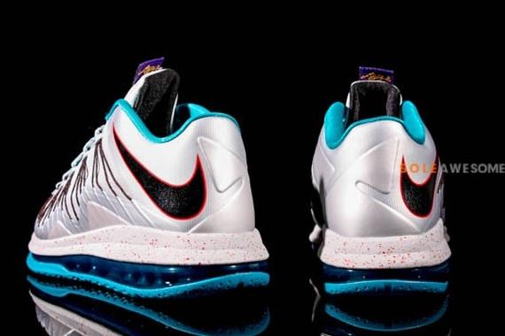Nike LeBron X Low Silver Teal
