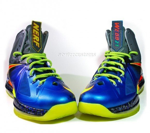 Nike LeBron X NerfMan 2 Custom by Twizz Customs