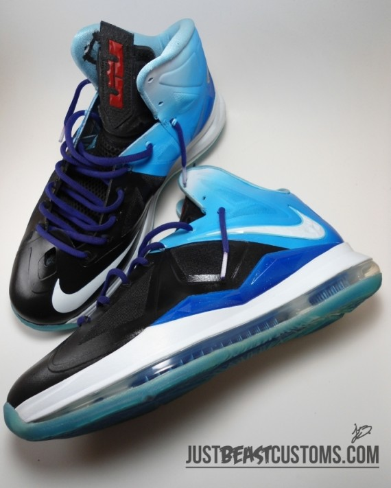 Nike LeBron X Playstation Customs by Just Beast