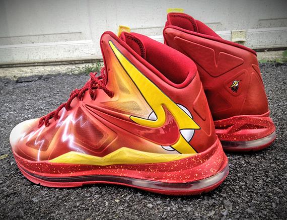 Nike LeBron X The Flash by Mache Customs