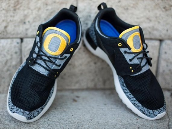 Nike Roshe Run Oregon Ducks Pit Crew by JP Custom Kicks