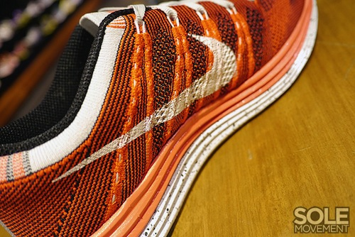 Nike WMNS Flyknit Lunar 1+  Orange White-Black   fab6c64d0