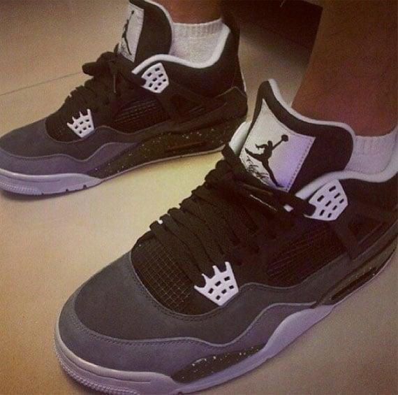 On Foot Images Grey Cement Air Jordan IV