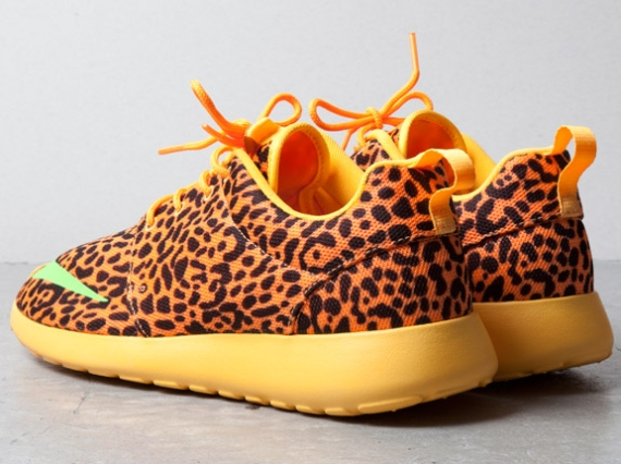 Orange Leopard Nike Roshe Run FB