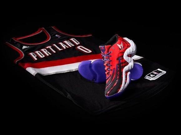9e11bb9c1221 ... d lillard 1 signature shoe. ss15bballdlillard1awayactftwh de372 1eb37   free shipping release reminder damian lillard x adidas real deal rookie of  the ...