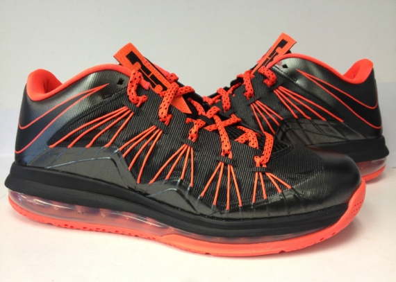 Release Reminder Nike LeBron X Low  Black Total Crimson