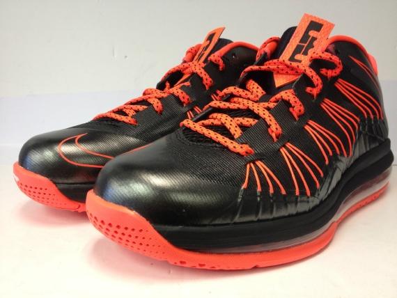 Release Reminder Nike LeBron X Low  Black Total Crimson