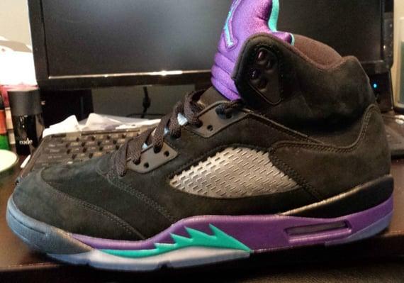 Release Update Air Jordan V Black Grape
