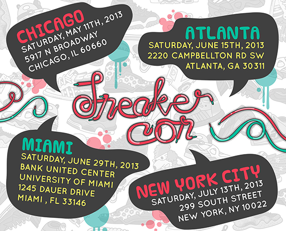 Sneaker Con Summer 2013 Tour Date