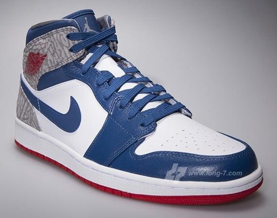 True Blue Air Jordan 1 Mid