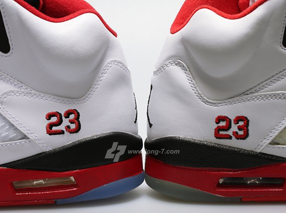 2006 vs 2013 Air Jordan V Retro Fire Red Edition