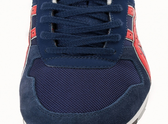 Asics GT II Navy and Fiery Red