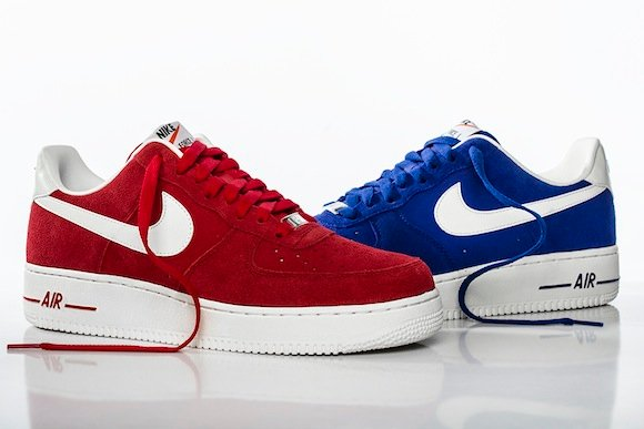nike air force 1 hyper blue and university red color