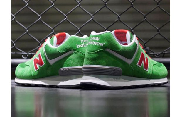New Balance 574 Green Red White 02