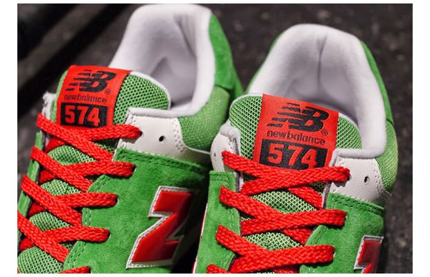 New Balance 574 Green Red White 05