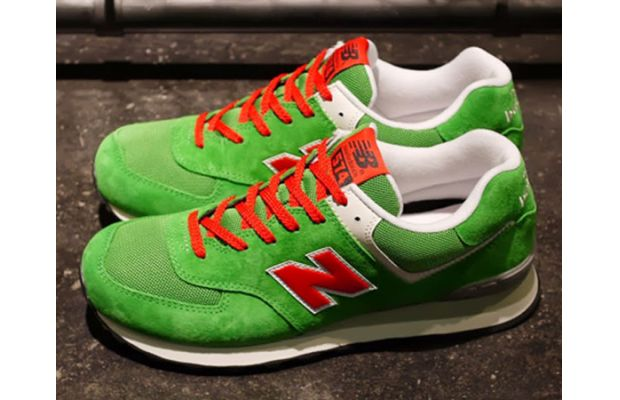 New Balance 574 Green Red White