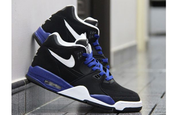 Nike Air Flight 89 Black White Blue Speckle Another Look 05