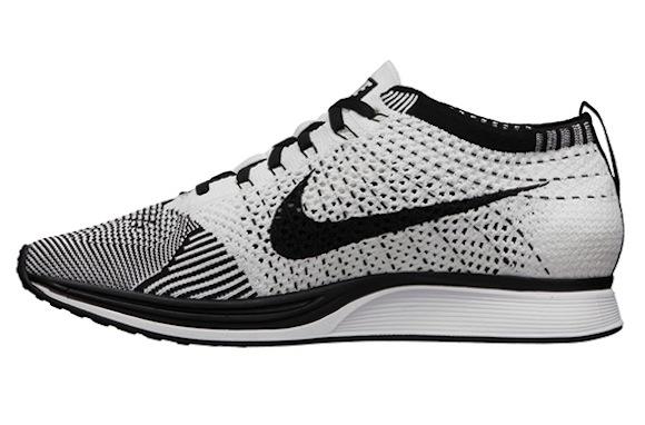 Nike FlyKnit Racer Black White New Release