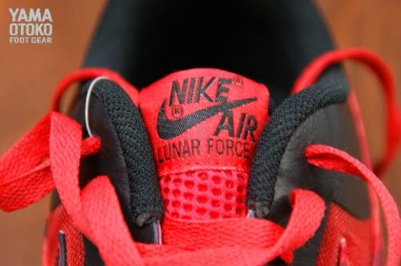 Nike Lunar Force 1 Fuse LTHR Black Hyper Red