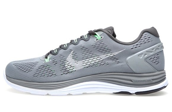 cheap for discount 3366e a43ab ... free shipping nike lunarglide 5 wolf grey sonic yellow 77610 f96d9