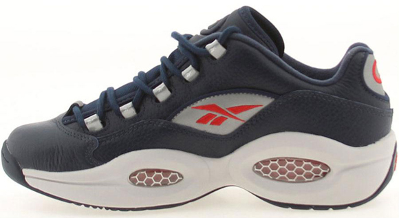 Reebok Question Low Navy Steel Red Silver 04