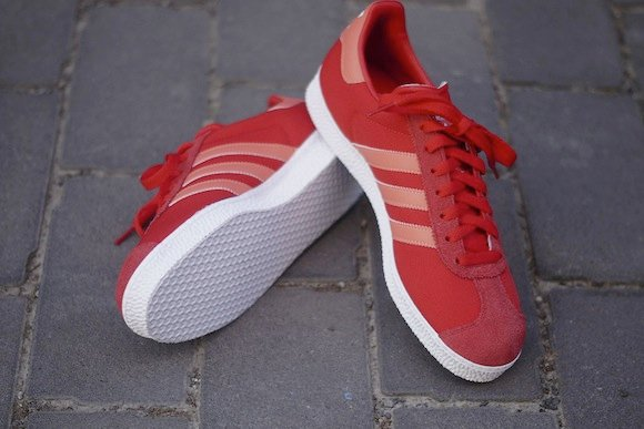 Vivid Red Adidas Gazelle II New Release
