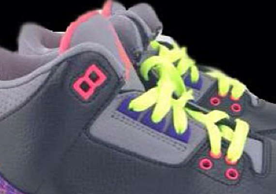 Air Jordan III GS Purple Pink Volt First Look