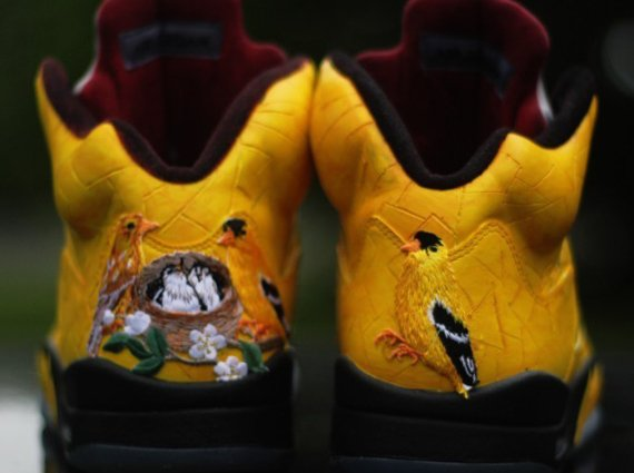 Air Jordan V Finch Customs by Rocket Boy Nift