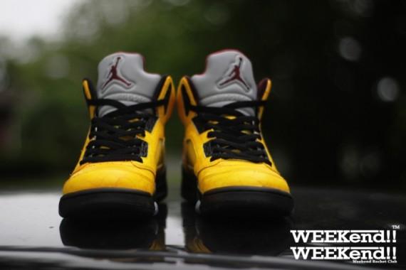 Air Jordan V Finch Customs by Rocket Boy Nift