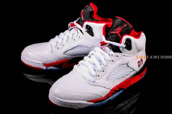 newest 96c64 18b6b Another Look Air Jordan V 5 Fire Red