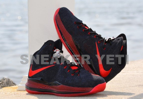 Another Look Black Denim Nike LeBron X Sample