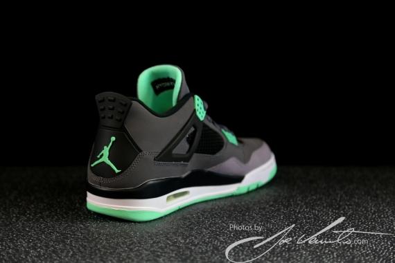 Another Look Green Glow Air Jordan IV