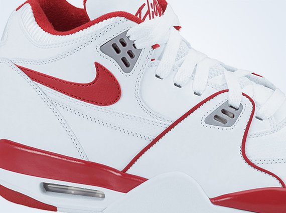 Available for Pre Order Nike Air Flight 89 White Varsity Red Wolf Grey