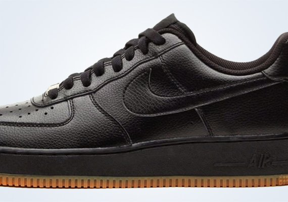 Black Gum Nike Air Force 1 Low