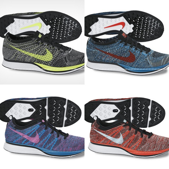 best sneakers 05095 691eb First Look Nike Flyknit Racer And Trainer 2014 Colorways