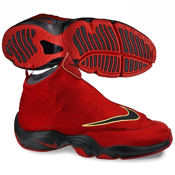 First Look Nike Zoom Flight 98 The Glove Red Black Yellow