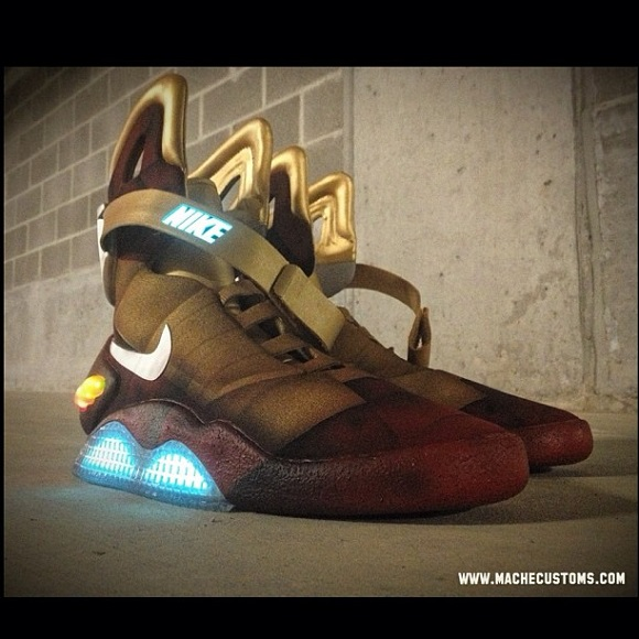 Holy Starks Nike Air Mag Iron Man Custom By Mache
