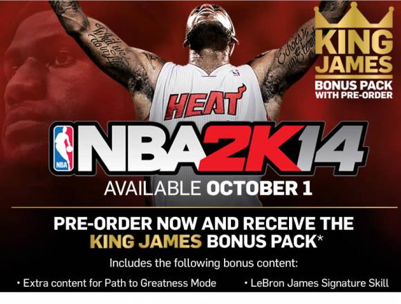Lebron James NBA 2K14 Cover