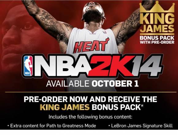 Lebron James NBA 2K14 Cover