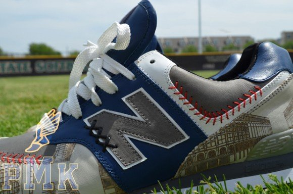 New Balance 574 Brooklyn Dodgers for DJ Clark Kent by PMK Customs