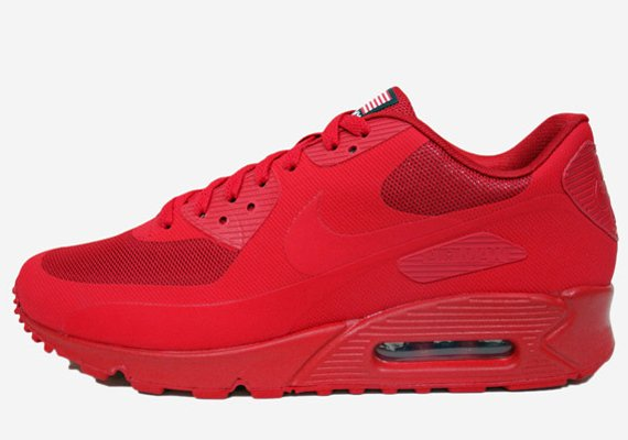 save off 9e45e 7e2d3 Nike Air Max 90 Hyperfuse Qs Usa Red Sneakers
