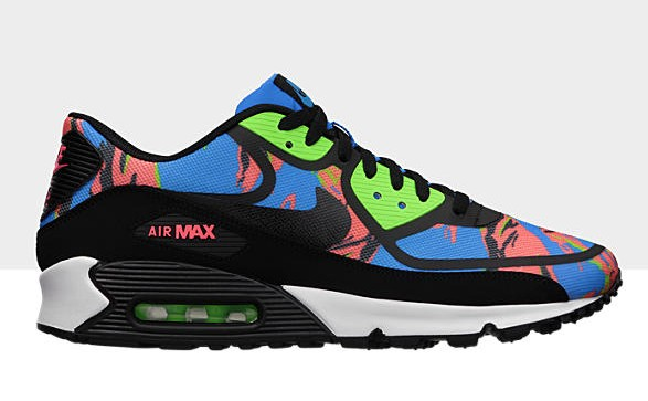 180075d615a5 on sale Nike Air Max 90 Premium Tape Blue Hero Black Flash Lime Atomic Red